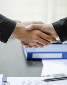 shaking hands 235x300 Dissolving A Business Partnership