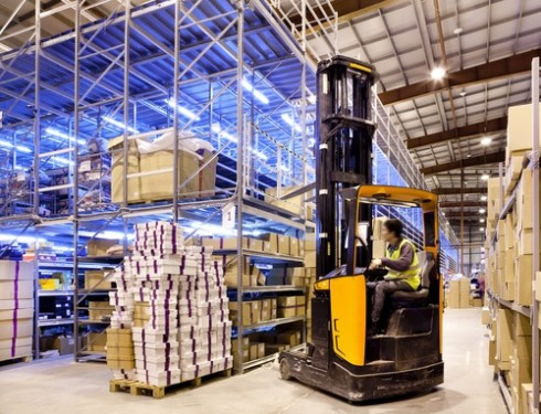 warehouse fork lift 490x375 Liquidation vs. Auction
